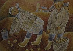 М.Кузнецов. Уборка картофеля
